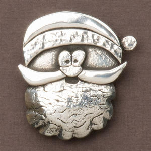 Cornish Pewter Santa Brooch